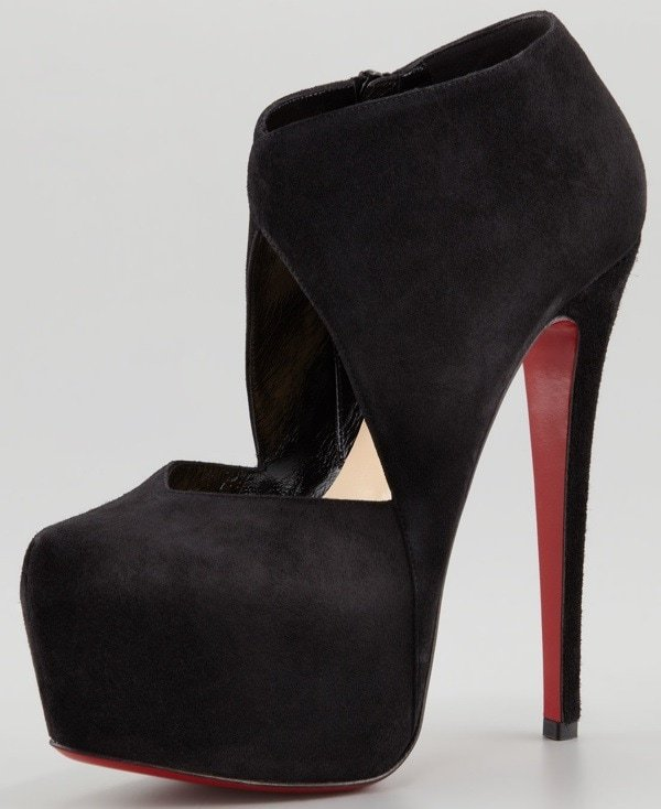 3a3b3fa23c30 Christian Louboutin Donue Open-Front Red Sole Bootie  582.00