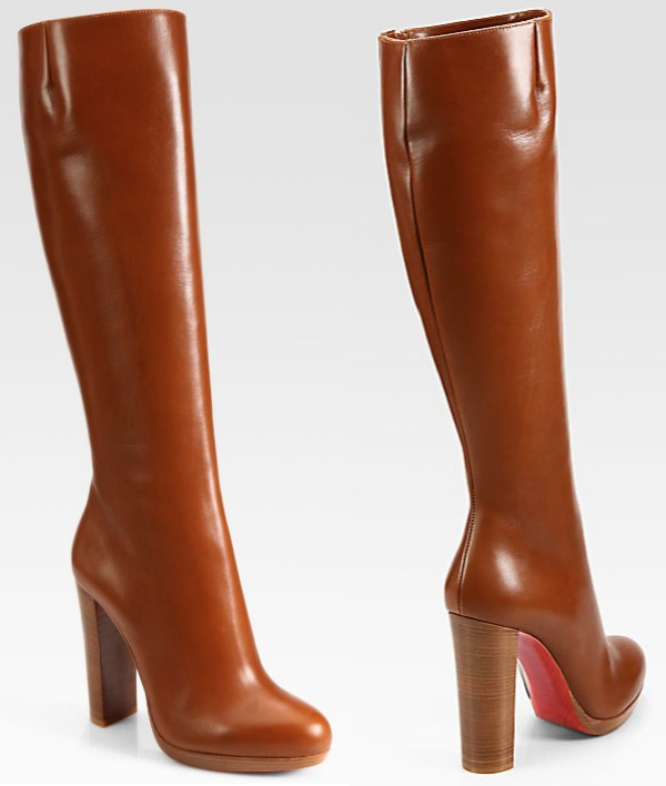 "Christian Louboutin ""Mirabelle"" Leather Boots"