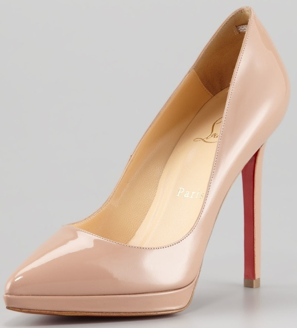 Christian Louboutin Pigalle Patent Platform Red Sole Pump $775.00