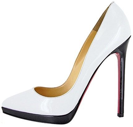 christian louboutin colorblock pigalle plato white on black