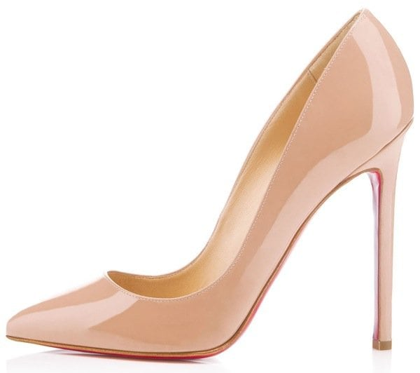 Christian Louboutin Pigalle in Nude Patent Outstep