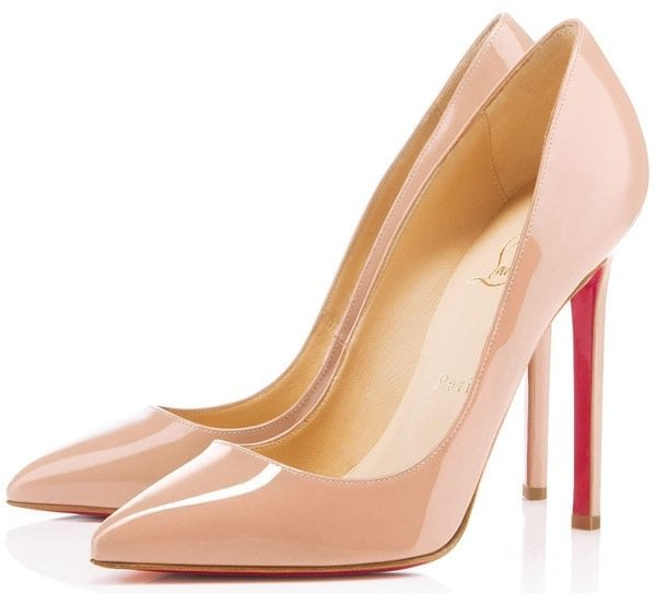 """Christian Louboutin """"Pigalle"""" Nude Pumps"""