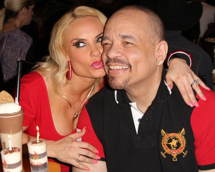 Coco Austin at her surprise birthday party at BurGR in Planet Hollywood Resort and Casino in Las Vegas on March 17, 2013
