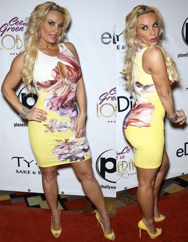 Coco Austin arrives at the red carpet grand opening for CeeLo Green is LOBERACE at the Planet Hollywood Resort and Casino in Las Vegas on March 2,  2013