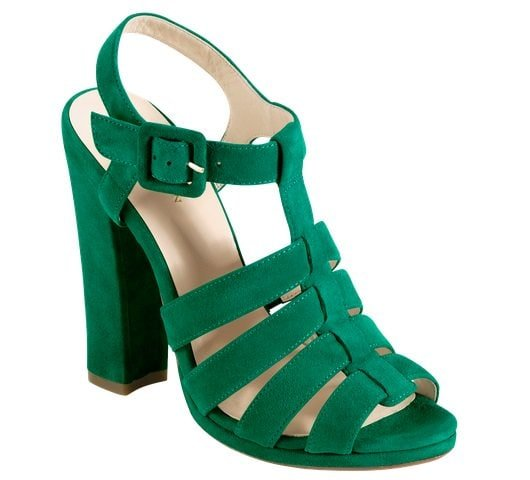 Cole Haan Jen & Oli Chelsea Collection Sandals in Green Suede