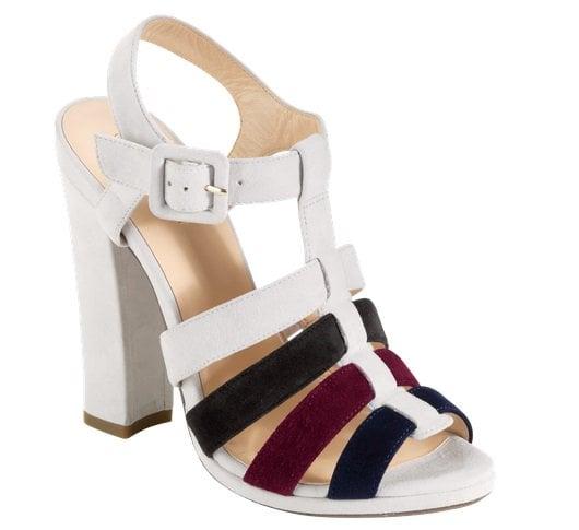 Cole Haan Jen & Oli Chelsea Collection Sandals in Grey-Burgundy-Navy Suede