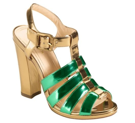 Cole Haan Jen & Oli Chelsea Collection Sandals in Metallic Gold-Green