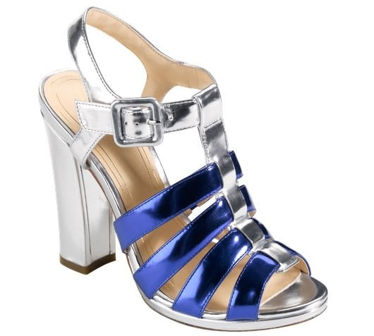 Cole Haan Jen & Oli Chelsea Collection Sandals in Metallic Silver-Blue