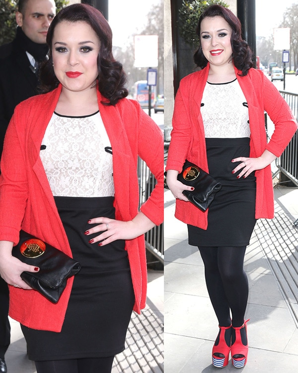 Dani Harmer at the TRIC Awards 2013 held at the Grosvenor House Hotel in London, England, on March 12, 2013