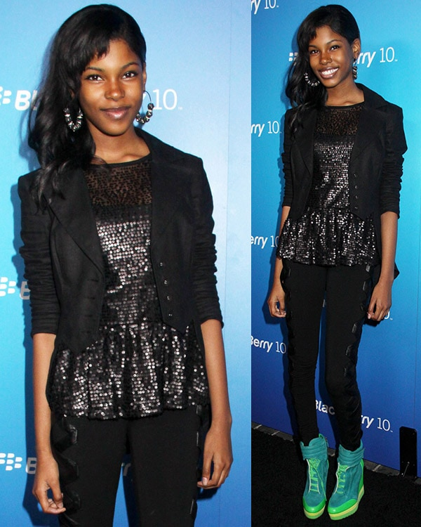 Diamond White at The US launch of the new BlackBerry Z10 held at Cecconi's West Hollywood on March 20, 2013