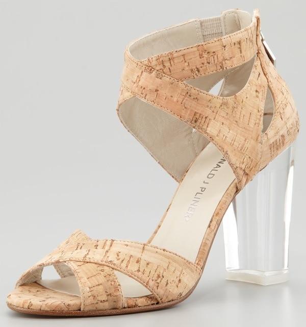 Donald J. Pliner Manda Cork Lucite Heel Sandal $298.00