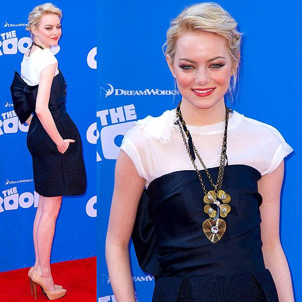 Emma Stone The Croods NY premiere 1