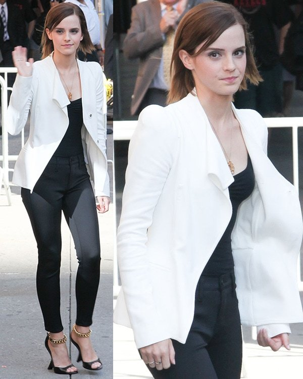 Emma Watson at the Ed Sullivan Theater for the 'The Late Show with David Letterman' New York City, USA