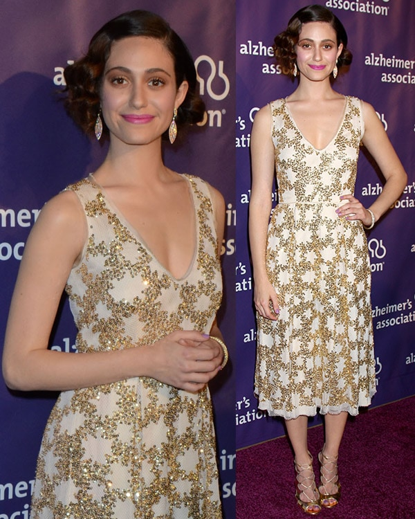 Emmy Rossum at the 21st Annual A Night at Sardi's to Benefit the Alzheimer's Association held at the Beverly Hilton Hotel
