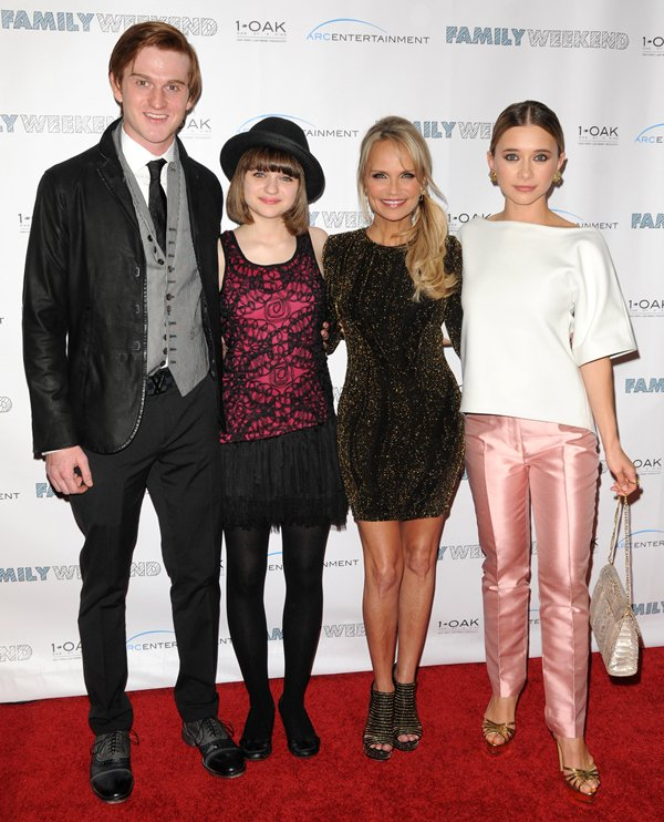 """Olesya Rulin, Eddie Hassell, Joey King, and Kristin Chenoweth attend the New York special screening of Family Weekend"""""""