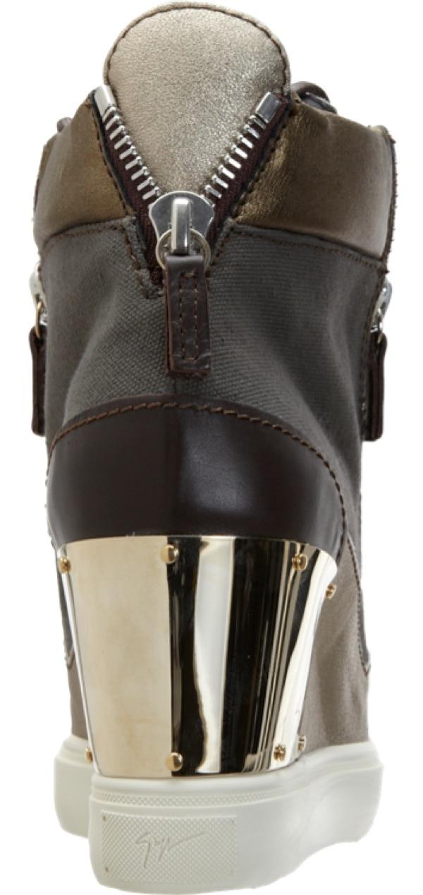 GIUSEPPE ZANOTTI Combo Zip Wedge Sneaker $895 Heel