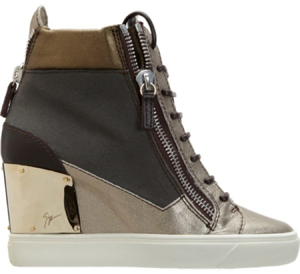GIUSEPPE ZANOTTI Combo Zip Wedge Sneaker $895 Outstep