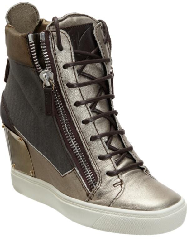 GIUSEPPE ZANOTTI Combo Zip Wedge Sneaker $895