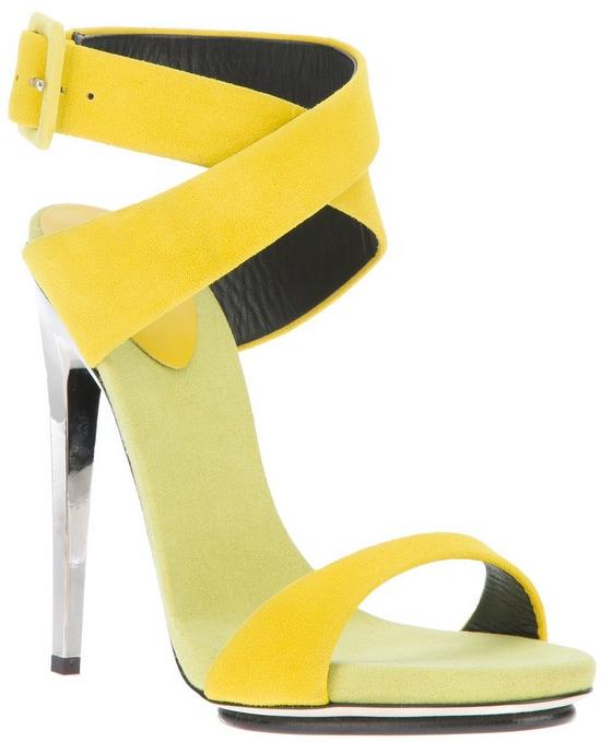 Giuseppe Zanotti Chrome Stiletto Sandal