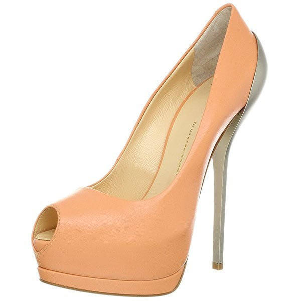 Giuseppe Zanotti Metal-Heeled Pumps in Peach