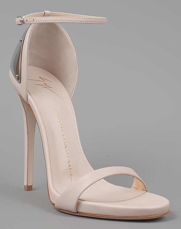 Giuseppe Zanotti Spring 2012 Sandals with Metal Plate in Nude