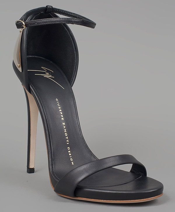 Giuseppe Zanotti Spring 2012 Sandals with Metal Plate