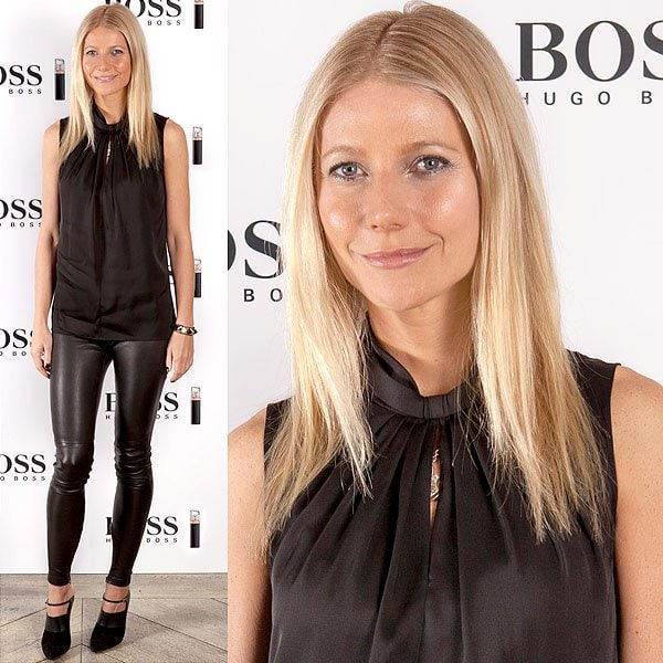 Gwyneth Paltrow Boss Nuit Pour Femme photocall