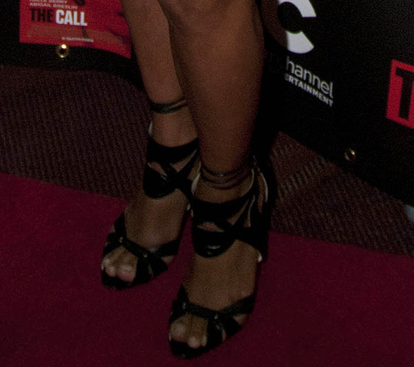 Halle Berry's hot feet in Brian Atwood Uma sandals