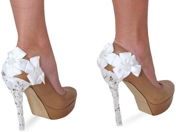Heel Condom White-Lace