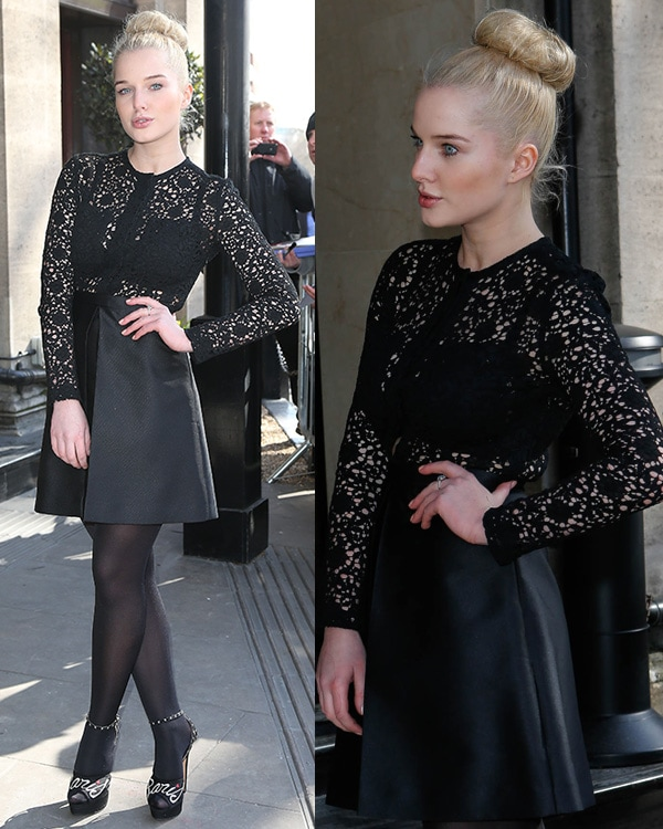 Helen Flanagan at The TRIC Awards 2013 held at the Grosvenor House Hotel - Arrivals