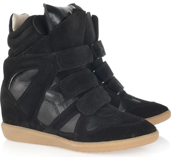 ISABEL MARANT Bekket high-top suede sneakers, $358.00