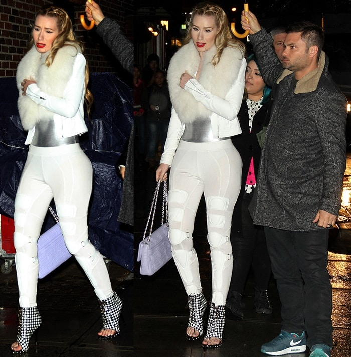 Iggy Azalea outside the Ed Sullivan Theater for Late Show with David Letterman in New York City on November 26, 2013