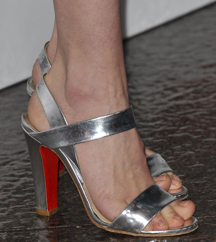 January-Jones-Christian-Louboutin-silver-sandals
