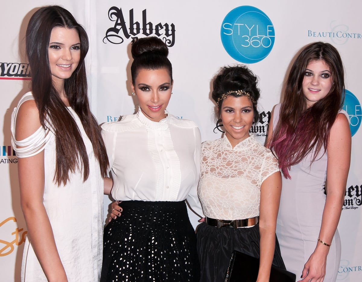 At 5'0″, Kourtney Kardashian is much shorter than her siblings Kendall, Kim, and Kylie