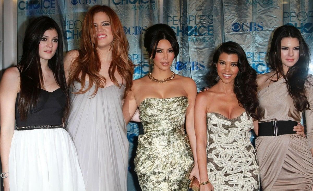 Kourtney Kardashian is shorter than her sisters Kylie, Khole, Kim, and Kendall