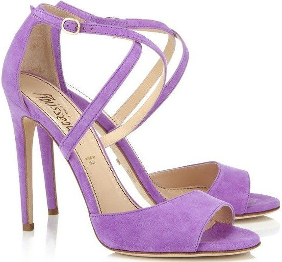Jerome C. Rousseau 'Popp' in lilac suede