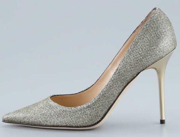 Jimmy Choo Abel Glitter Pointed Pump, Light Bronze $595.00 Outstep