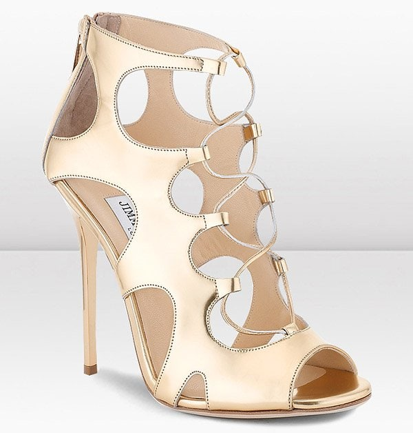 Jimmy Choo Diffuse Sandals in Metallic Gold