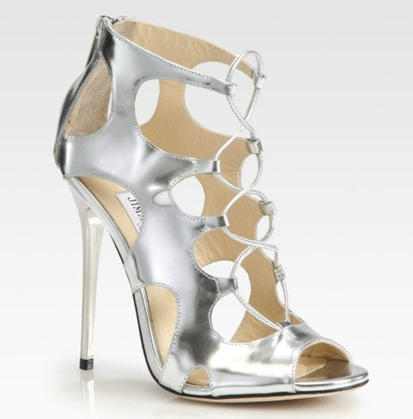 Jimmy Choo Diffuse Sandals in Metallic Silver