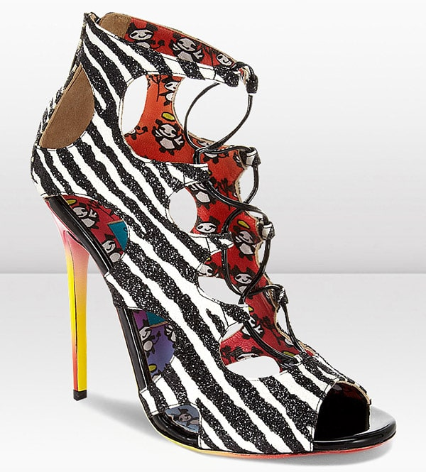 Jimmy Choo Diffuse Sandals in Zebra Print