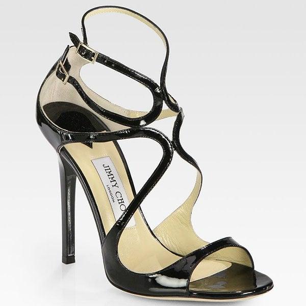 Jimmy Choo Lance Sandals in Black
