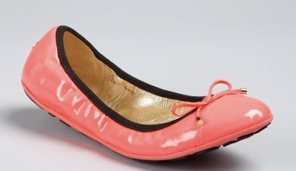 Neon Pink Patent Leather Wallach Ballet Flats