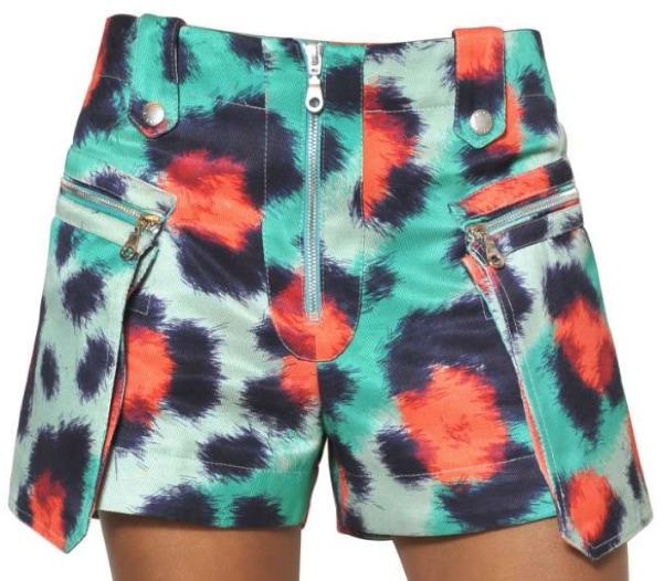 KENZO Printed Viscose Cotton Drill Shorts