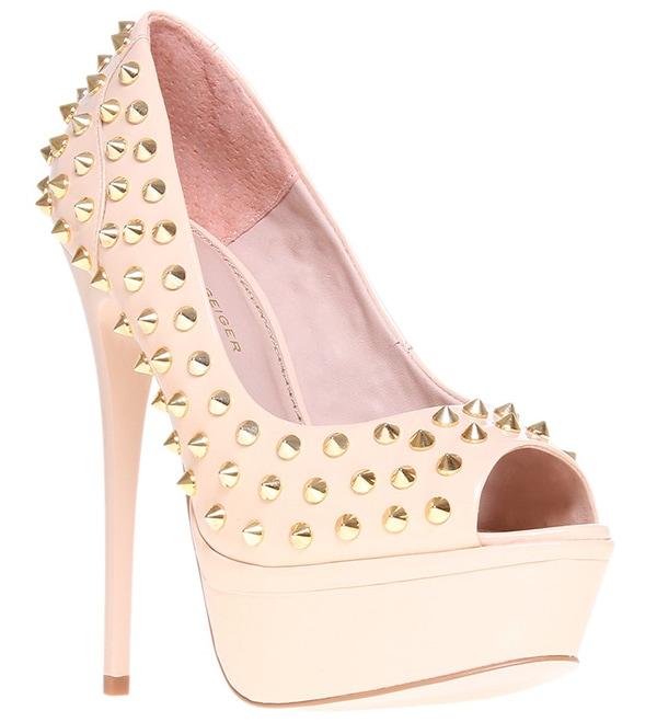 KG by Kurt Geiger Eris Studded Stiletto Platform Court Shoes