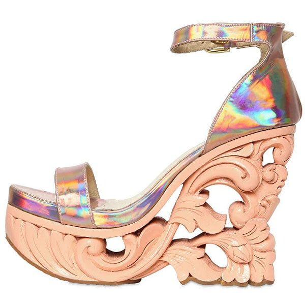 KTZ iridescent sculpted wedges