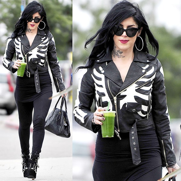 Kat Von D juice bar Melrose Avenue