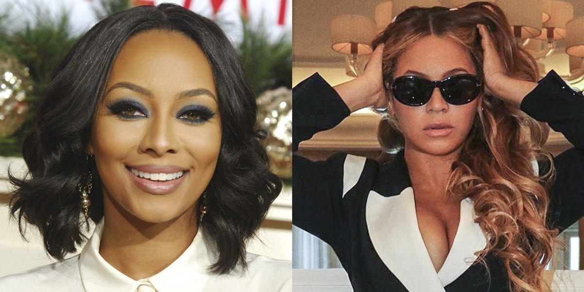 Keri Hilson (L) says there is no drama between her and Beyonce and that she would love to possibly collaborate one day