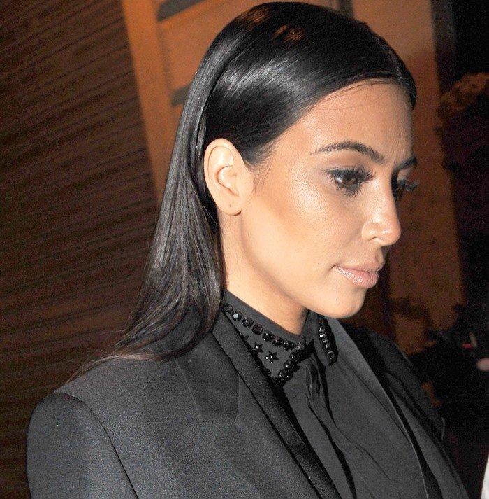 Kim Kardashian leaves the Diesel+Edun's launch party for Studio Africa Live