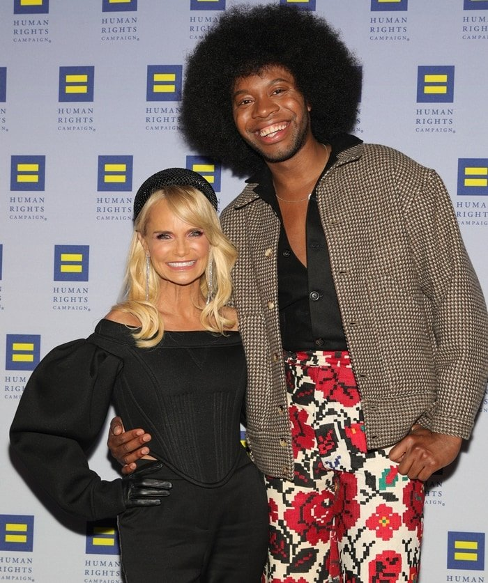 Event honoree Kristin Chenoweth and actor/playwright Jeremy O. Harris