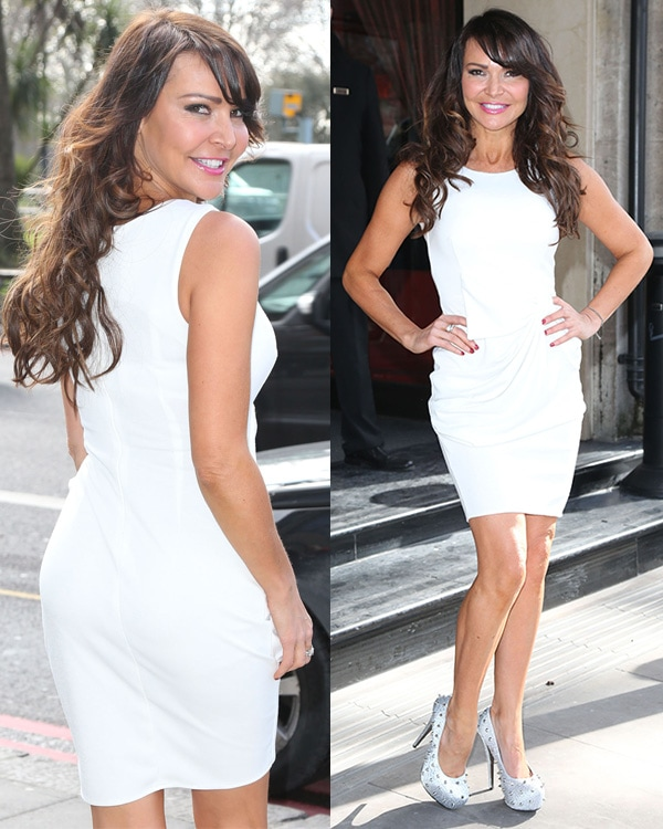 Lizzie Cundy at the TRIC Awards 2013 held at the Grosvenor House Hotel in London, England, on March 12, 2013